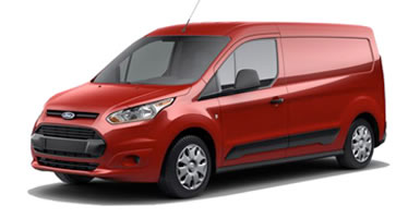 Red small van